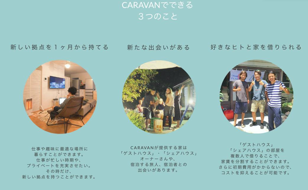 CARAVAN(キャラバン)の特徴