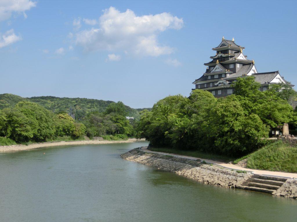 岡山大学近くにある後楽園と岡山城